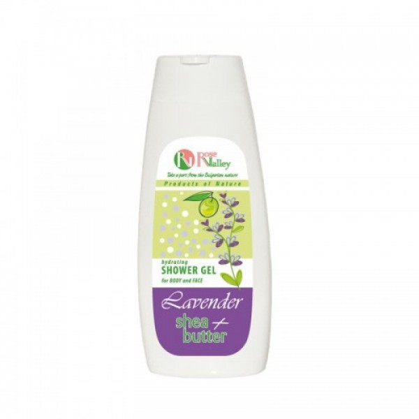 SHOWER GEL FOR BODY AND FACE LAVENDER + SHEA - HYDRATING 250 ML