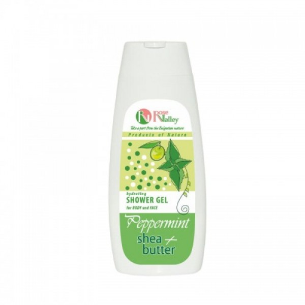 SHOWER GEL FOR BODY AND FACE MINT + SHEA - HYDRATING 250 ML