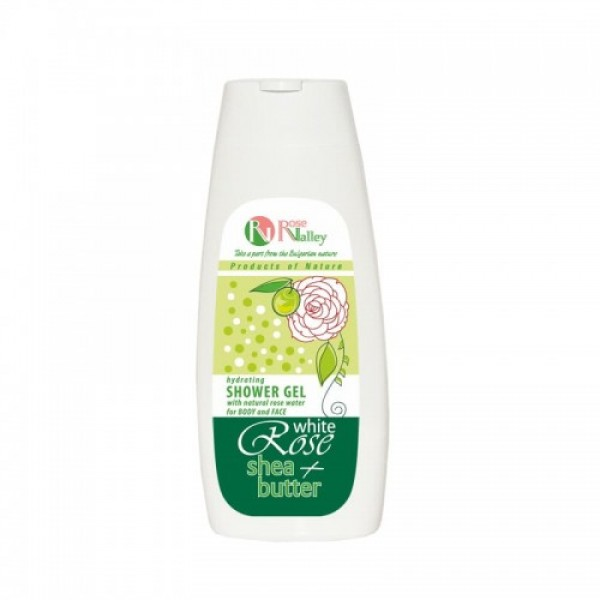SHOWER GEL FOR BODY AND FACE WHITE ROSE + SHEA - HYDRATING 250 ML