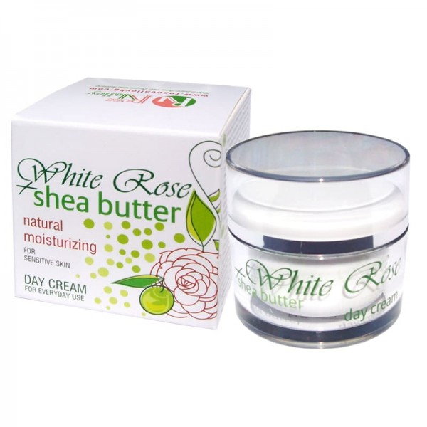 DAY FACE CREAM WHITE ROSE & SHEA WITH BULGARIAN ROSE WATER 50 ML.