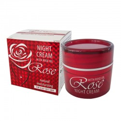 NIGHT CREAM WITH ROSE OIL FROM BULGARIAN ROSE VALLEY AND OIL FROM GRAPE SEEDS 50 G
