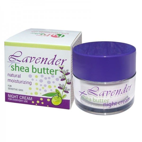 HYDRATING NIGHT CREAM LAVENDER + SHEA 50 ML.