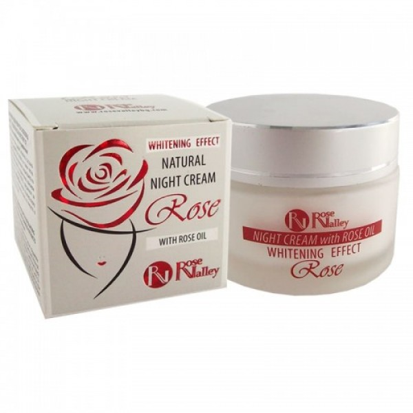 NATURAL NIGHT CREAM WITH WHITENING EFFECT WITH ROSE OIL AND ALGAE EXTRACT 40 ml.