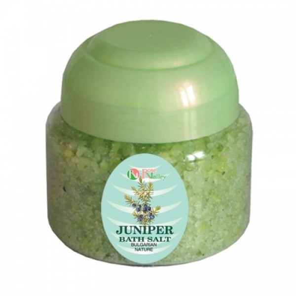 BATH SALTS WITH ESSENTIAL JUNIPER OIL - JAR 250 G