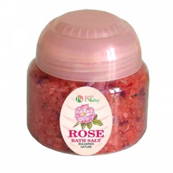 BATH SALTS WITH ESSENTIAL ROSE OIL - JAR 250 G
