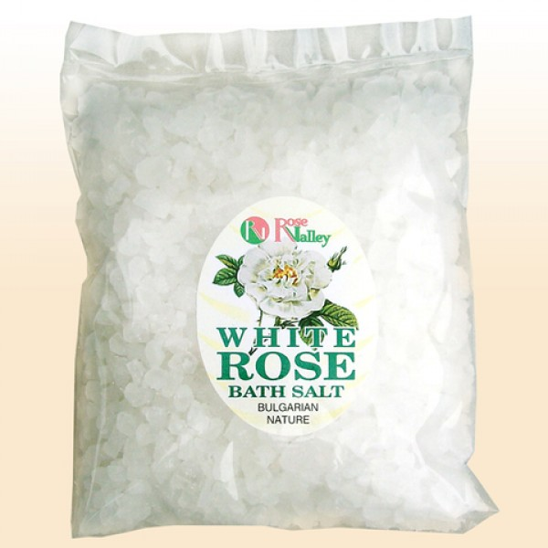 BATH SALTS WITH ESSENTIAL WHITE ROSE OIL - PACK 250 G
