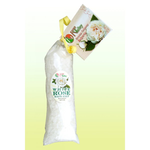BATH SALTS WITH WHITE ROSE - CARD - PACK 100 G