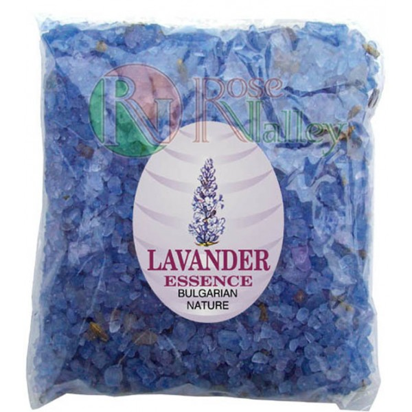 BATH SALTS WITH ESSENTIAL LAVENDER OIL - PACK 100 G