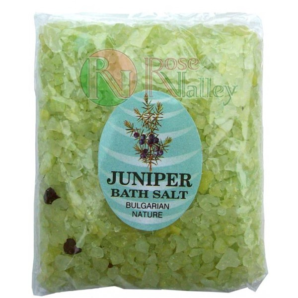 BATH SALTS WITH ESSENTIAL JUNIPER OIL - PACK 250 G