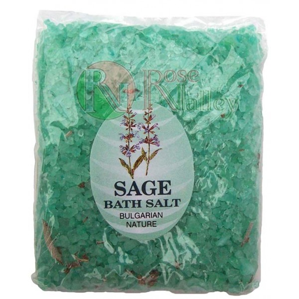 BATH SALTS WITH ESSENTIAL SAGE OIL - PACK 250 G