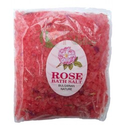 BATH SALTS WITH ESSENTIAL ROSE OIL - PACK 100 G