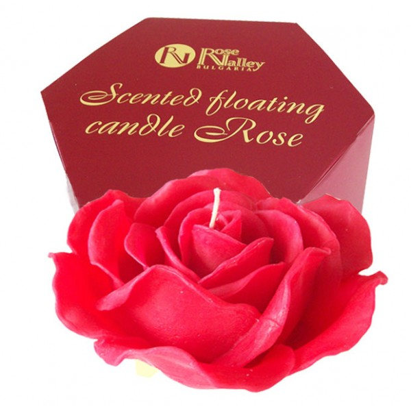 FLOATING SCENTED CANDLE ROSE 300 GR