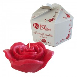 SCENTED CANDLE ROSE FLOWER