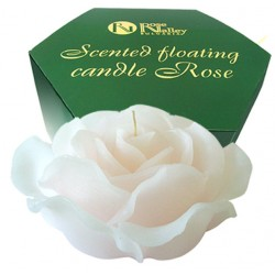 FLOATING SCENTED CANDLE WHITE ROSE WITH VANILLA 300 GR