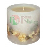 SCENTED CANDLE WITH WHITE ROSE AND VANILLA SCENT - 200 G.