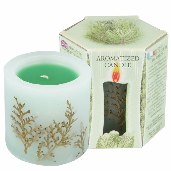 SCENTED CANDLE PINE - LITTLE BOX 200 G.