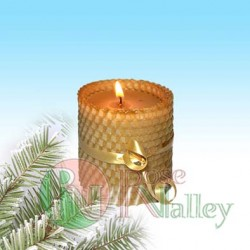 """CANDLE """"HONEY"""" WITH HARD WAVE 70 G."""