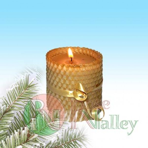 "CANDLE ""HONEY"" WITH HARD WAVE 70 G."