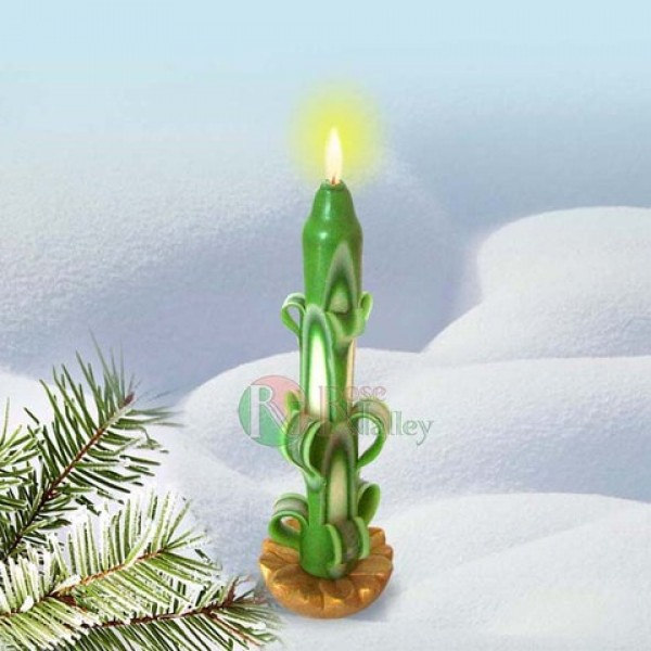 CHRISTMAS CANDLE GREEN 100 G