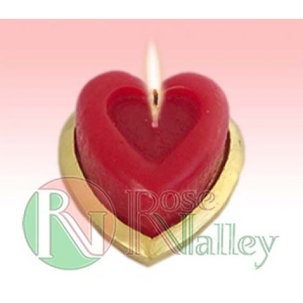 HEART-SHAPED SCENTED CANDLE WITH AROMA ROSE