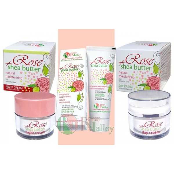 "HYDRATING SERIES CREAMS FOR VINE SKIN ""ROSE AND SHEET / CARRIES"""