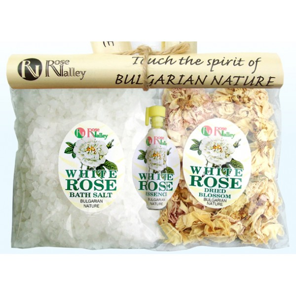 NATURAL SET - WHITE ROSE