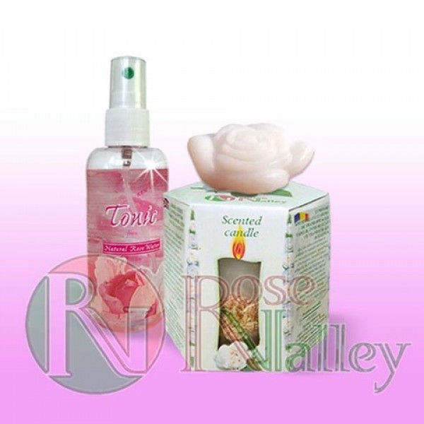 "SPA SET ""TENDERNESS""- CANDLE WHITE ROSE, TONIC AND A SOAP"
