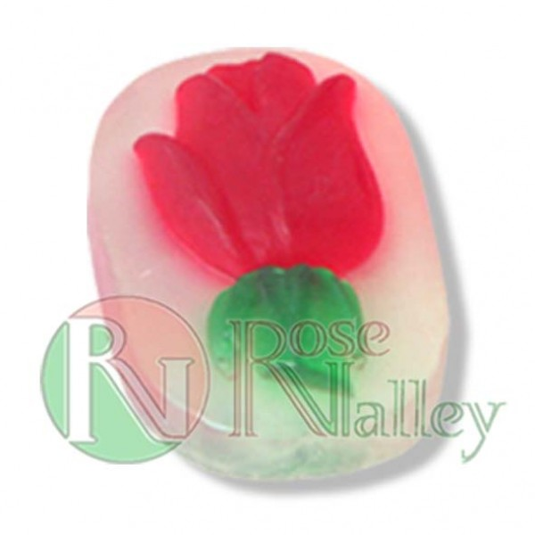 HANDMADE NATURAL SOAP ROSE ELLIPSE 30 G