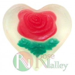 HANDMADE NATURAL SOAP ROSE HEART 30 G